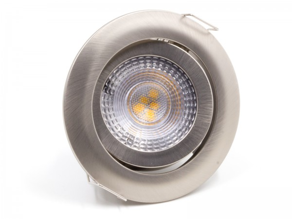 LED Einbauleuchte SL82 Warmweiß Mattchrom 5W Dimmbar