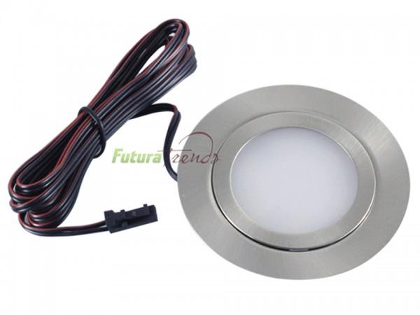 LED Einbauleuchten flach Möbelleuchten Einbaustrahler SLIM 3W HIGH LED SMD 3000K Warmweiß