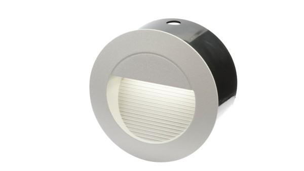 "LED Einbaustrahler 230V, 1,3W, ""DF-6031-3"", IP65, rund, silber"