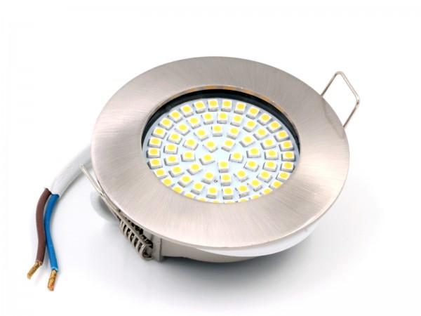 "LED-Einbauleuchte ""DF-9245-2"", 3,5W, 230V, 3.000K, matt-chrom"