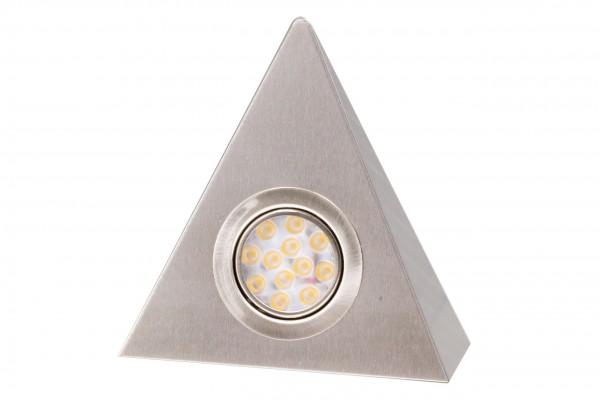 LED Dreieckleuchte 1021N Edelstahl 3W Warmweiß