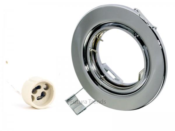 Einbaustrahler 9222 Serie GU10 230V Farbe Chrom