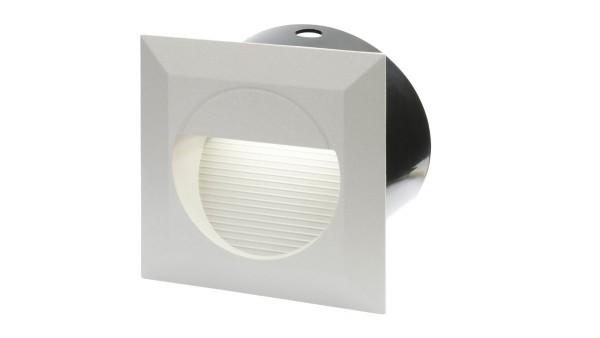 """LED Einbaustrahler 230V, 1,3W, """"DF-6032-2"""", IP65, quadratisch, silber"""