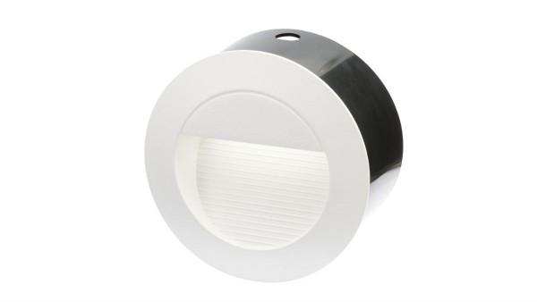 "LED Einbaustrahler 230V, 1,3W, ""DF-6031-3"", IP65, rund, weiß"