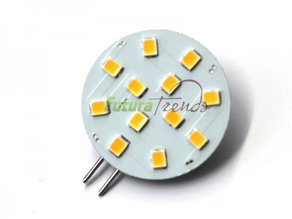 LED Chip Stiftsockel für G4, G5,3 Lampensockel mit 12 SMD LEDs Leuchtfarbe Warmweiß 2,5W